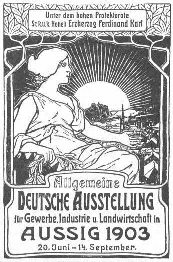 General German poster exhibition for trade, industry and agriculture - Alphonse Mucha