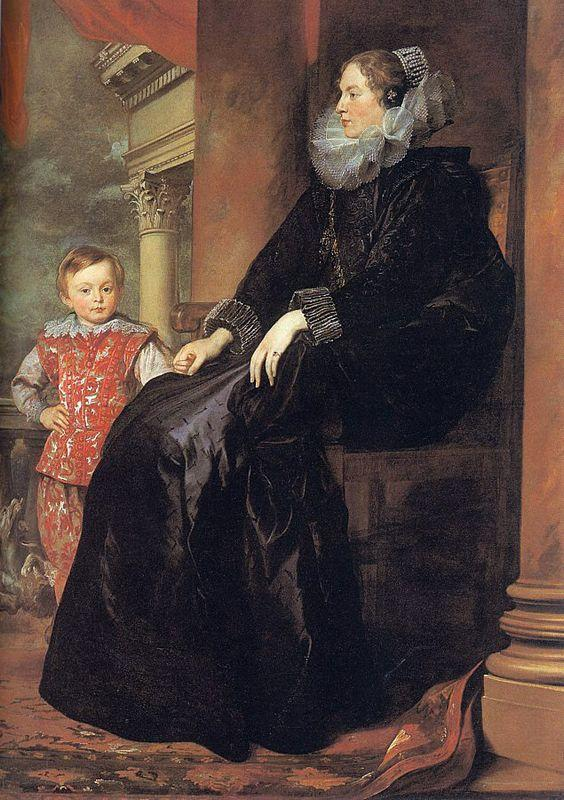 Genoese Noblewoman with her Son - Anthony van Dyck
