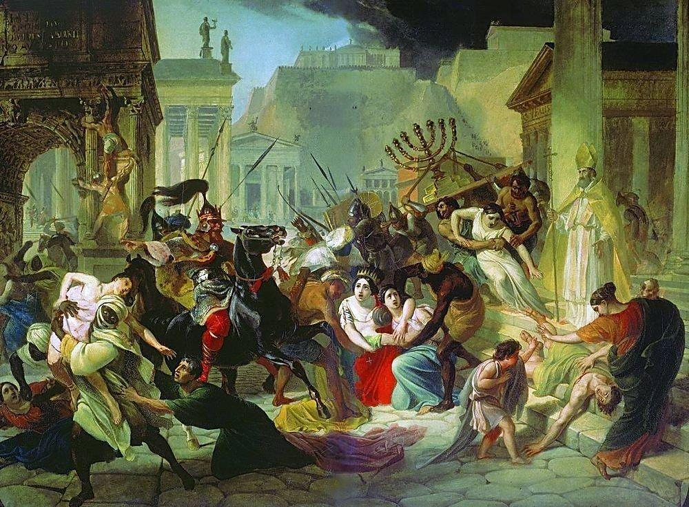 Genserich's Invasion of Rome - Karl Bryullov