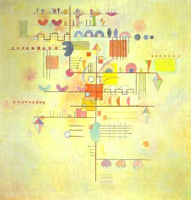 Gentle accent -  Wassily Kandinsky