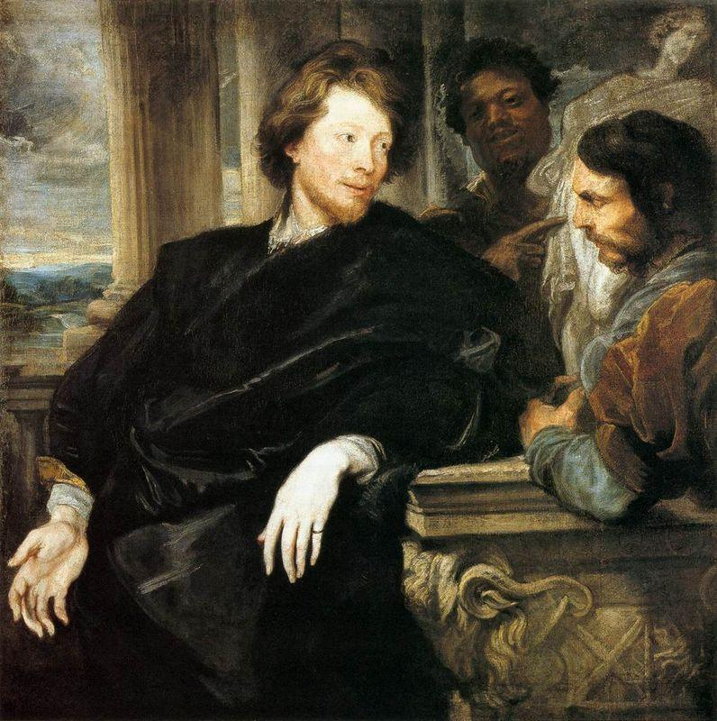 George Gage with Two Men - Anthony van Dyck