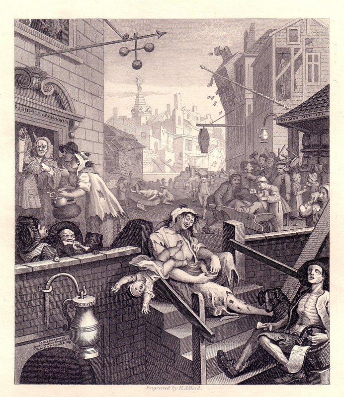 Gin Lane - William Hogarth