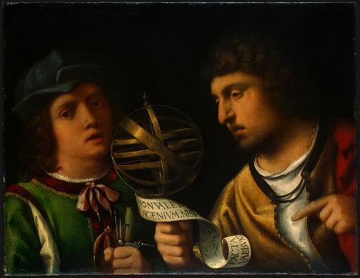Giovanni Borgherini and His Tutor - Giorgione