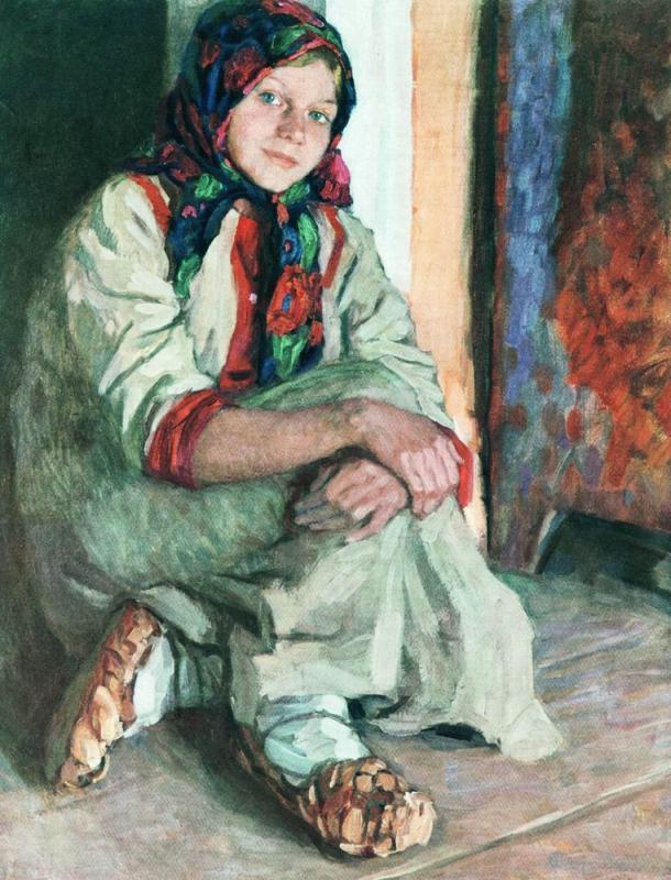 Girl  - Nikolay Bogdanov-Belsky