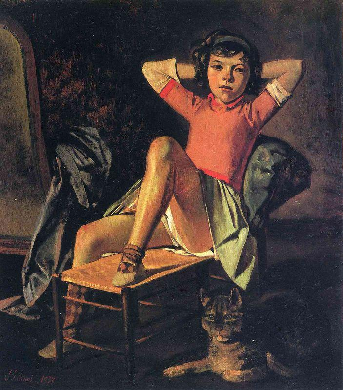 Girl and Cat - Balthus