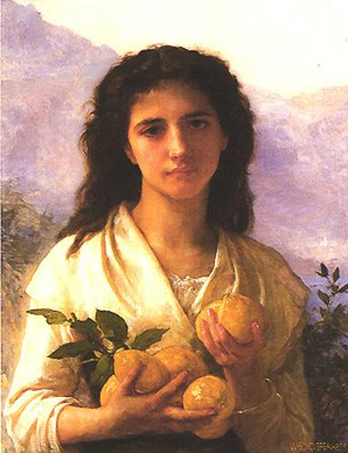 Girl Holding Lemons - William-Adolphe Bouguereau