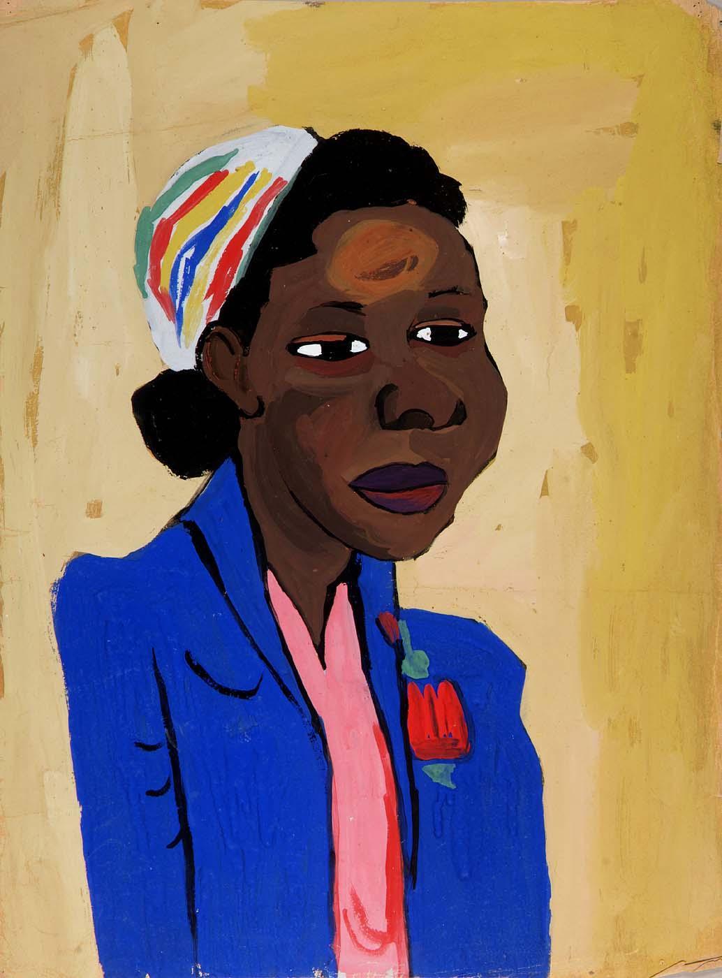 Girl in Blue with Turban--Deborah - William H. Johnson