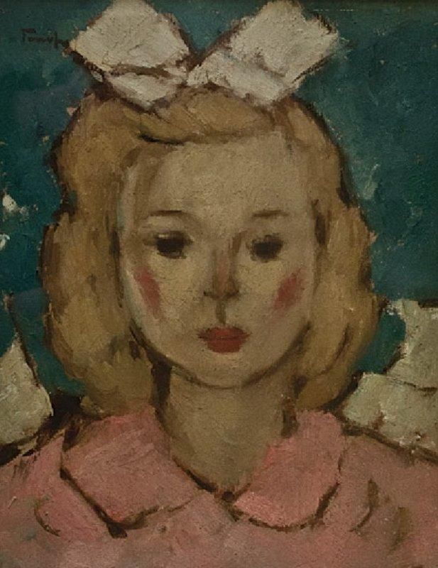 Girl in Pink - Nicolae Tonitza