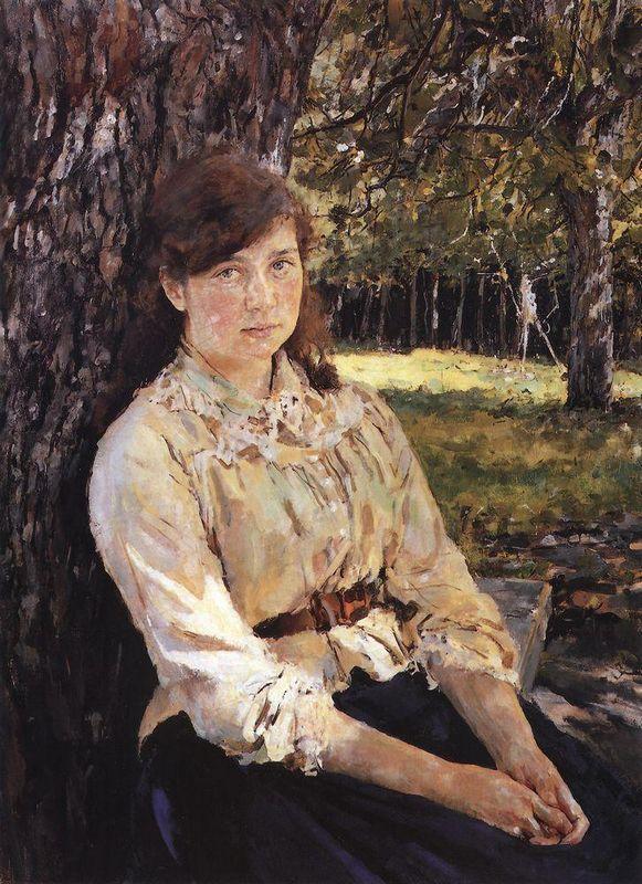 Girl in the Sunlight (Portrait of M. Simonovich) - Valentin Serov
