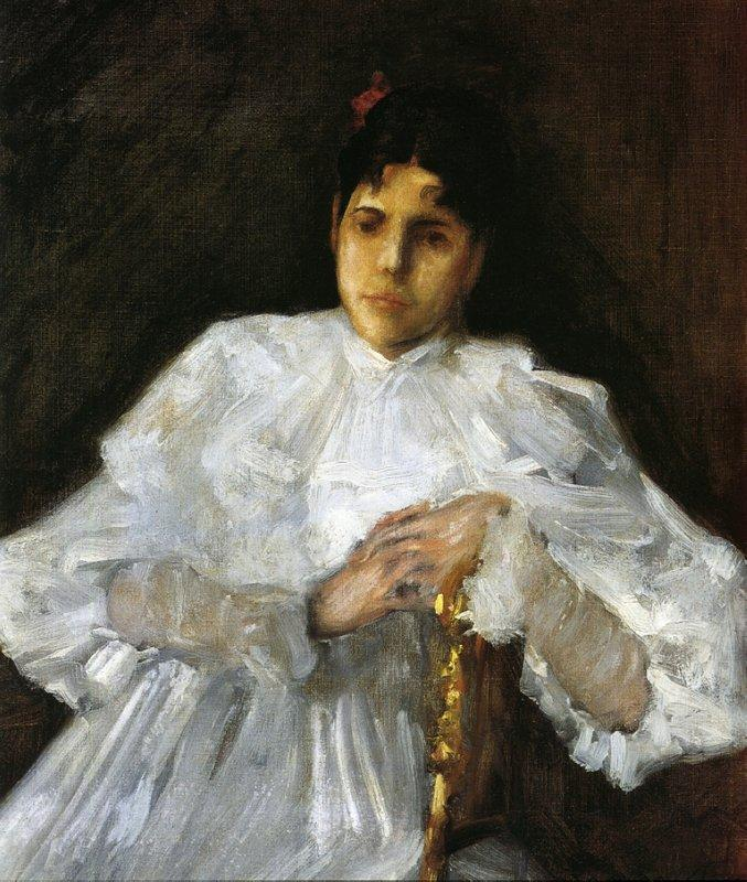 Girl in White - William Merritt Chase
