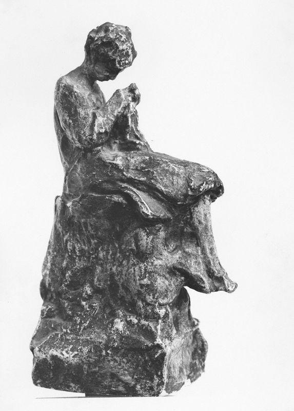 Girl knitting - Nikolaos Gyzis