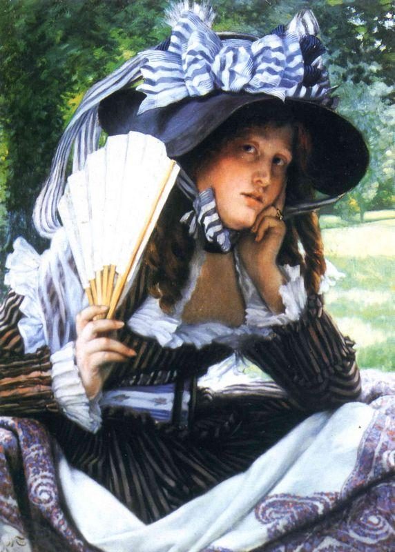 Girl with a fan - James Tissot
