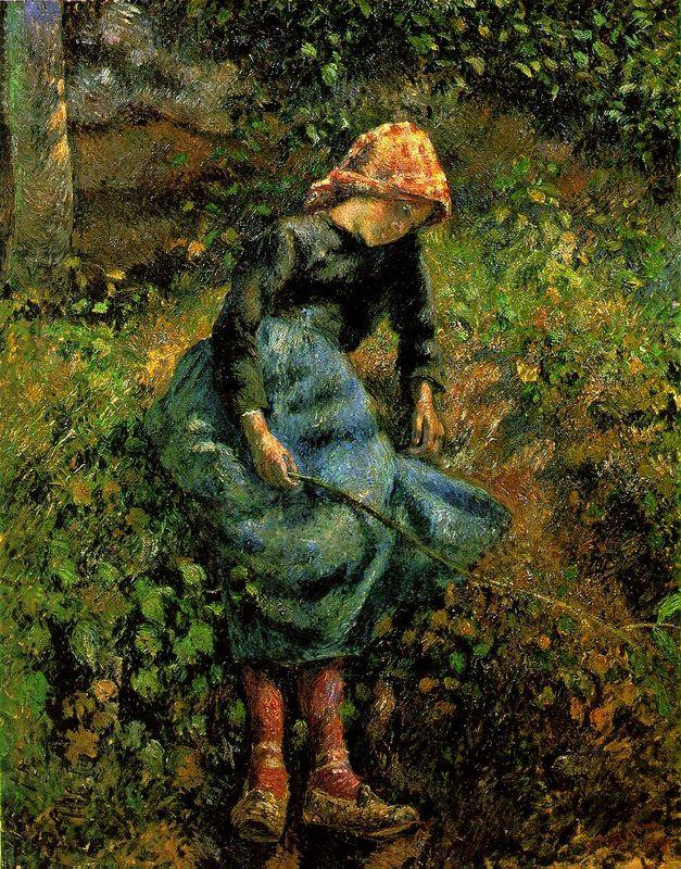 Girl with a Stick - Camille Pissarro