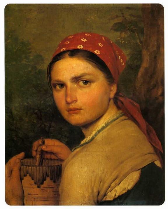 Girl with Burak - Alexey Venetsianov