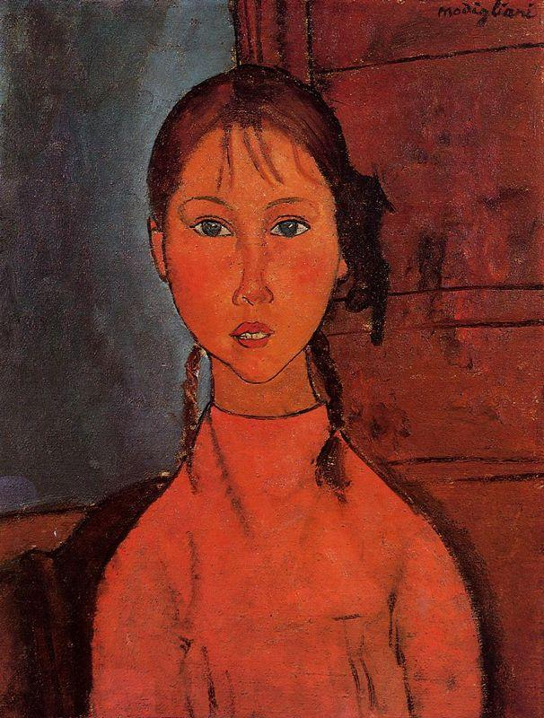 Girl with Pigtails - Amedeo Modigliani