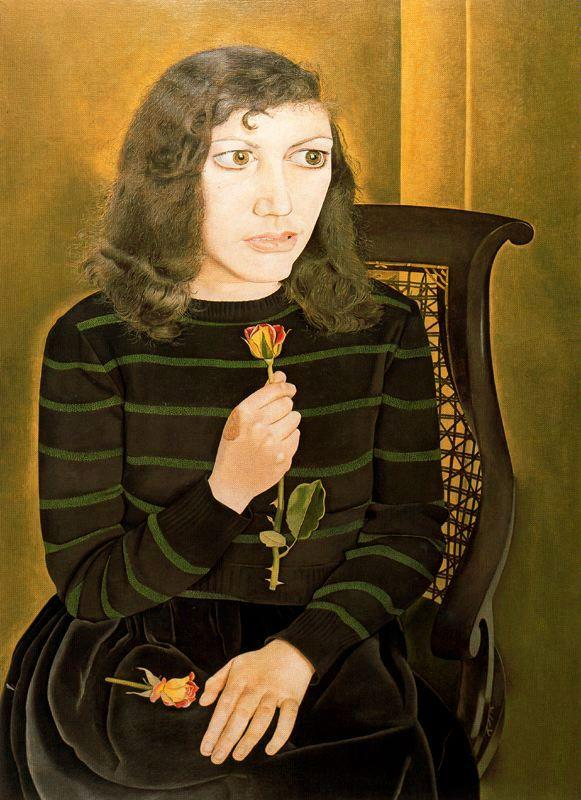 Girl with Roses - Lucian Freud