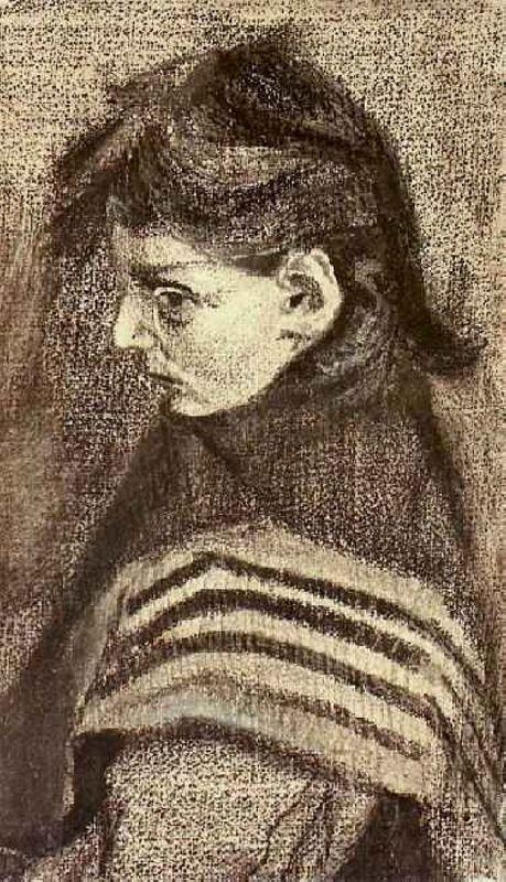 Girl with Shawl, Half-Figure - Vincent van Gogh