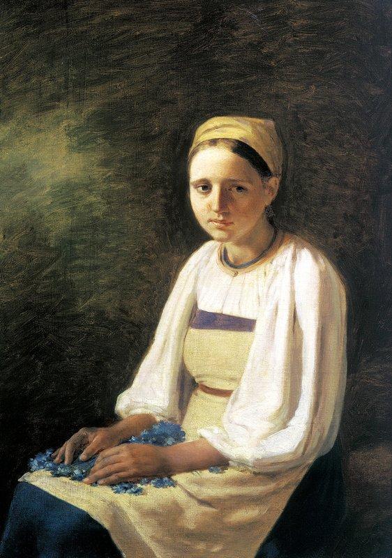 Girl with the Cornflowers - Alexey Venetsianov