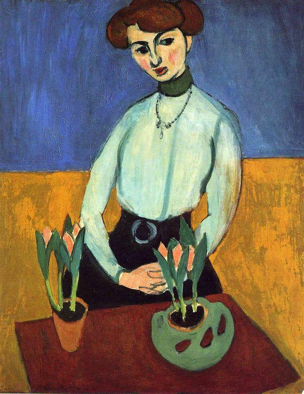 Girl with Tulips  - Henri Matisse