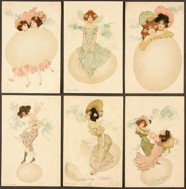 Girls and Eggs - Raphael Kirchner