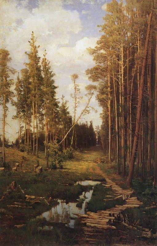 Glade in a pine forest - Aleksey Savrasov