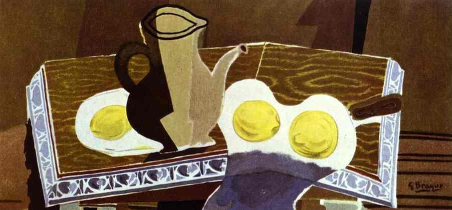 Glass pitcher and lemons - Georges Braque