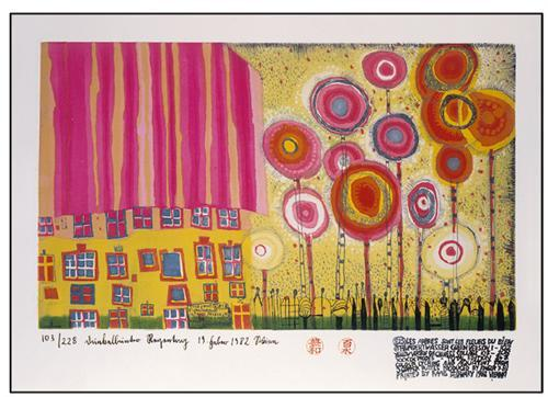 825 The Trees Are the Flowers of the Good - Friedensreich Hundertwasser