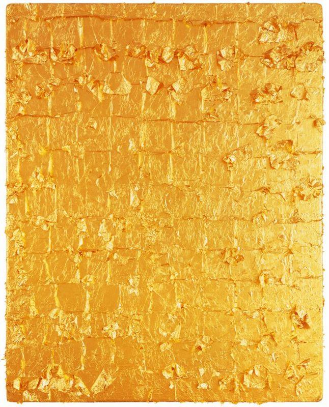 Gold Leaf on Panel - Yves Klein