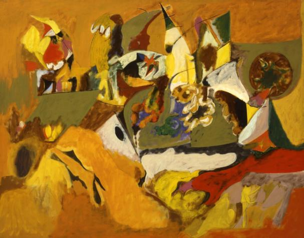 Golden Brown Painting - Arshile Gorky