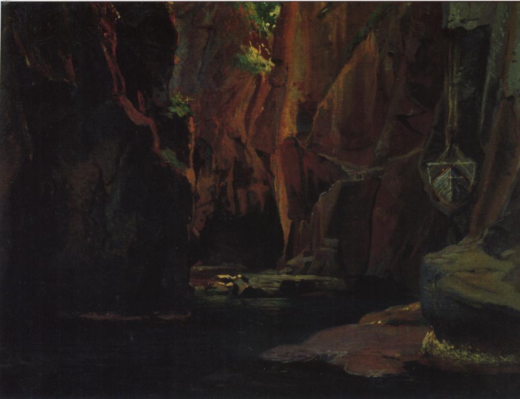 Gorge in the mountains of Carrara - Nikolai Ge