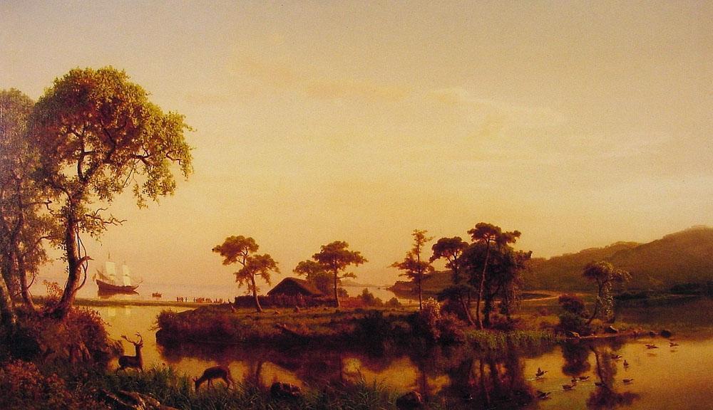 Gosnold at Cuttyhunk - Albert Bierstadt