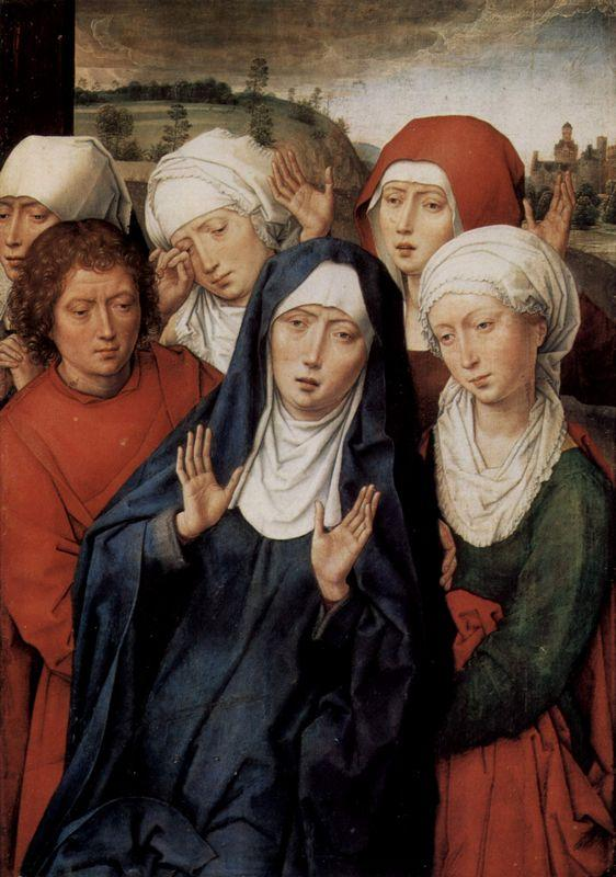 Granada diptych, right wing, the holy women and St. John - Hans Memling