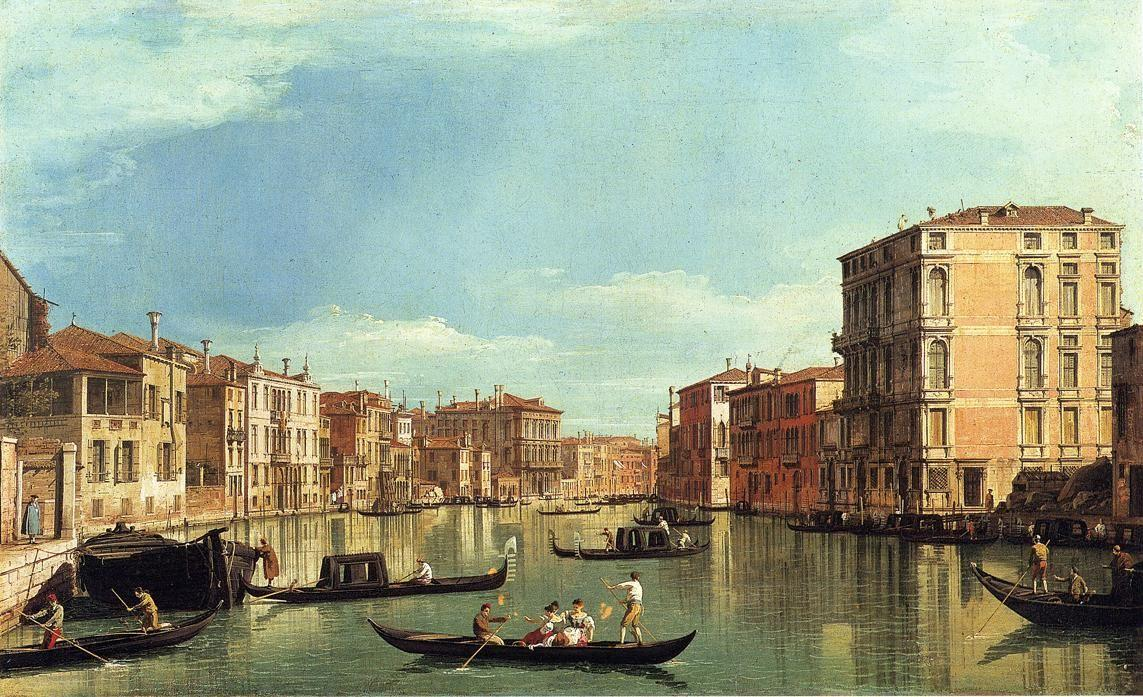 Grand Canal Between the Palazzo Bembo and the Palazzo Vendramin - Canaletto