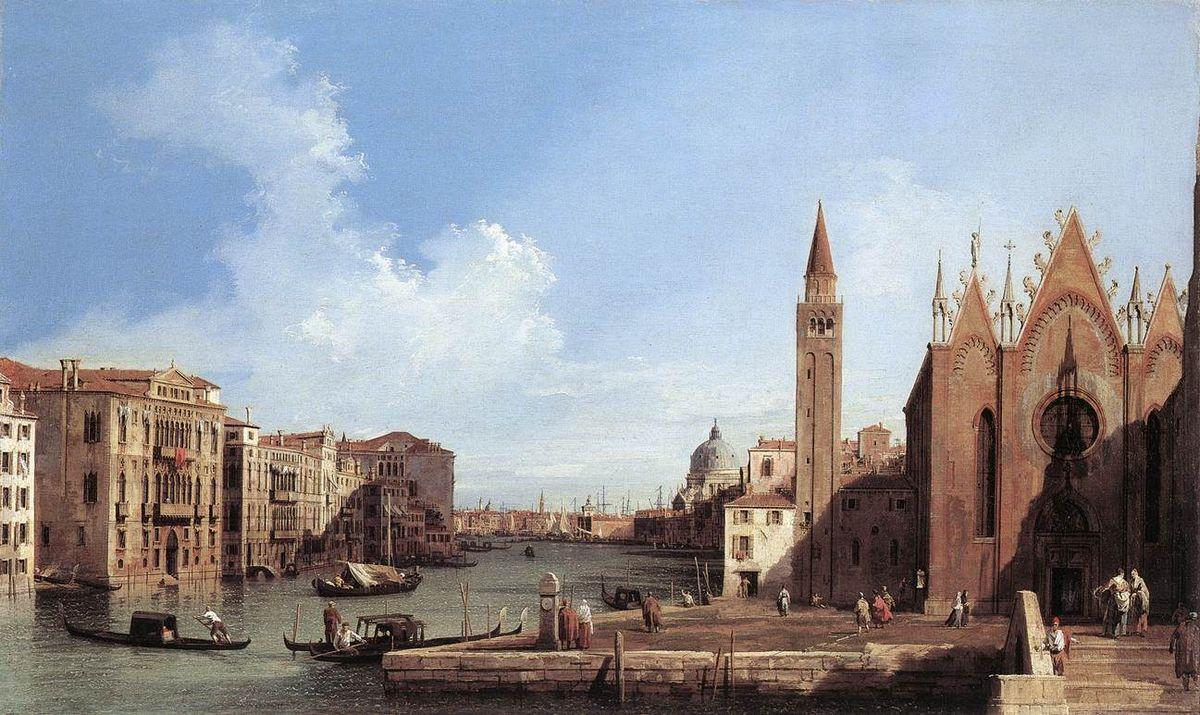 Grand Canal From Santa Maria Della Carita To The Bacino Di San Marco - Canaletto