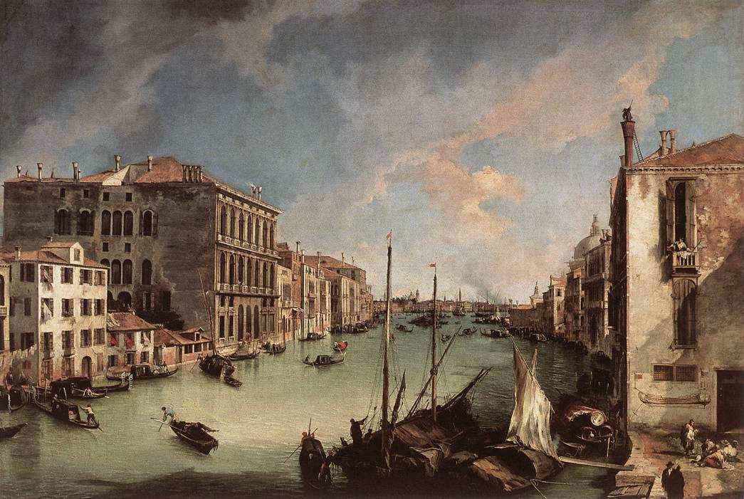 Grand Canal, Looking East from the Campo San Vio - Canaletto