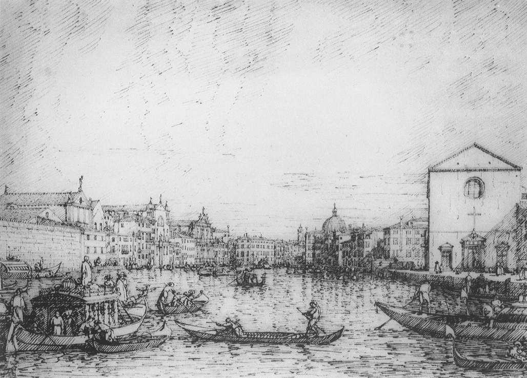 Grand Canal: Looking North East from Santa Croce to San Geremia - Canaletto