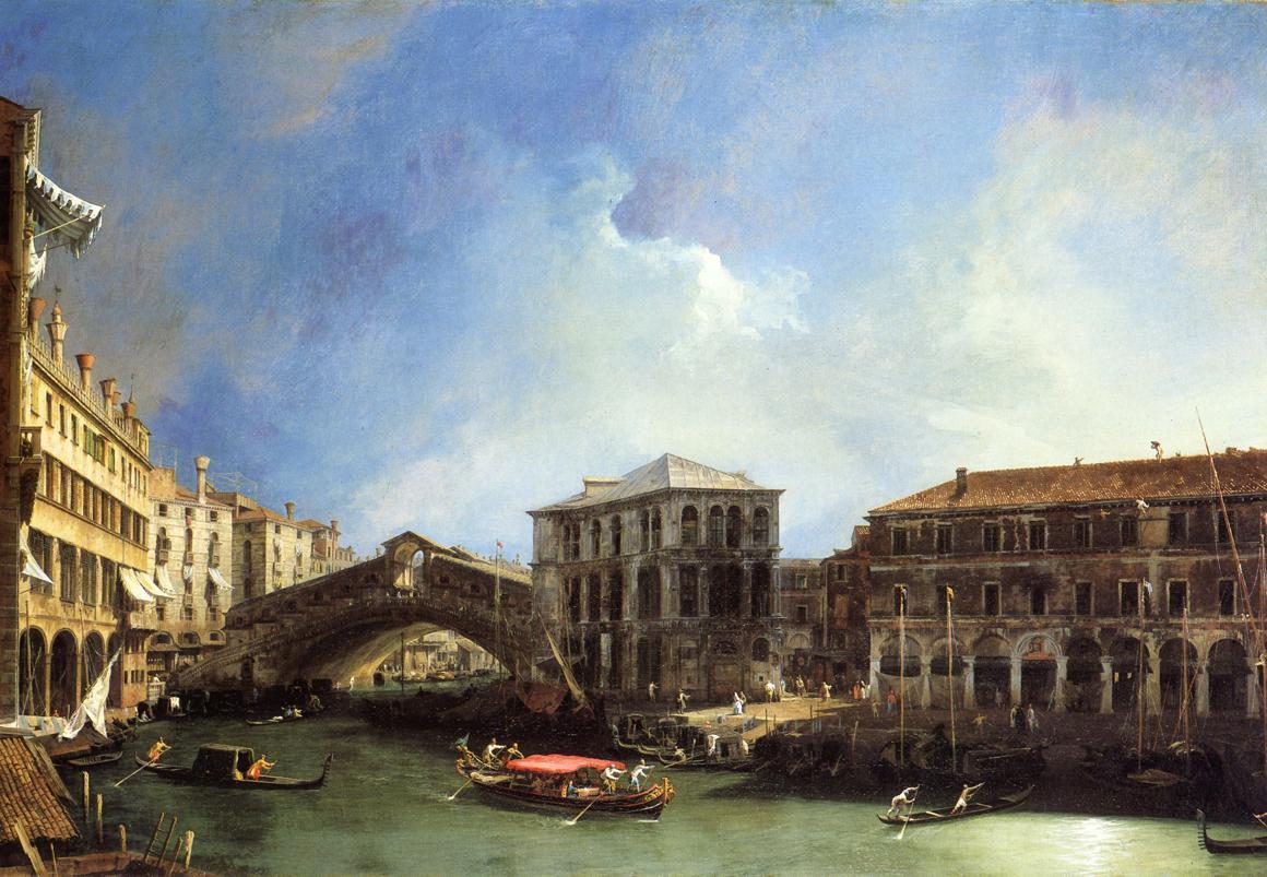 Grand Canel the Rialto Bridge from the North - Canaletto