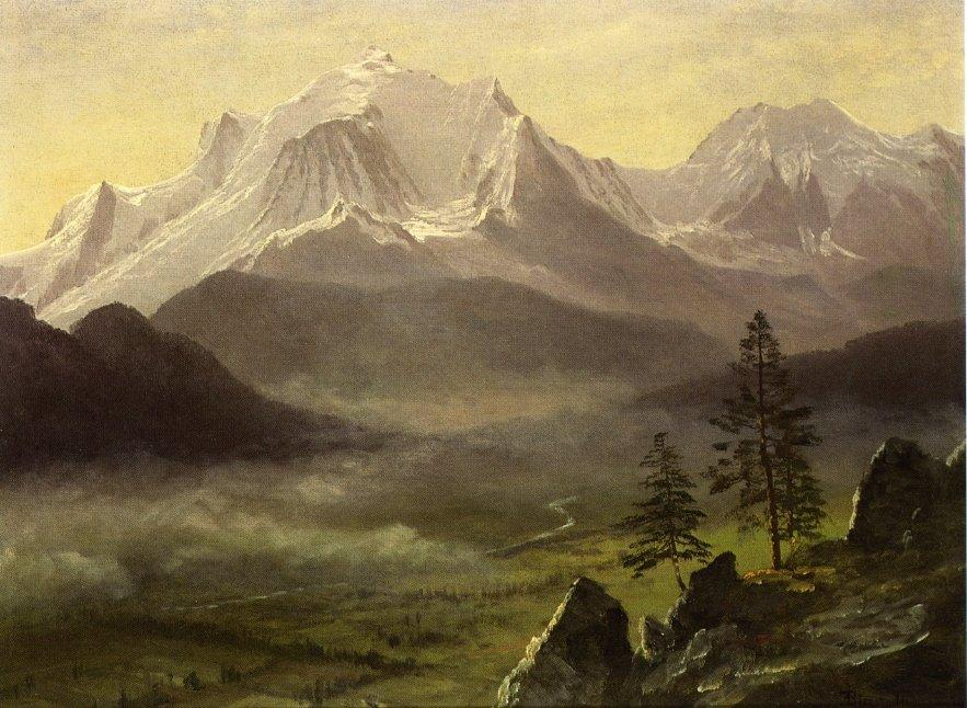 Grand Tetons - Albert Bierstadt