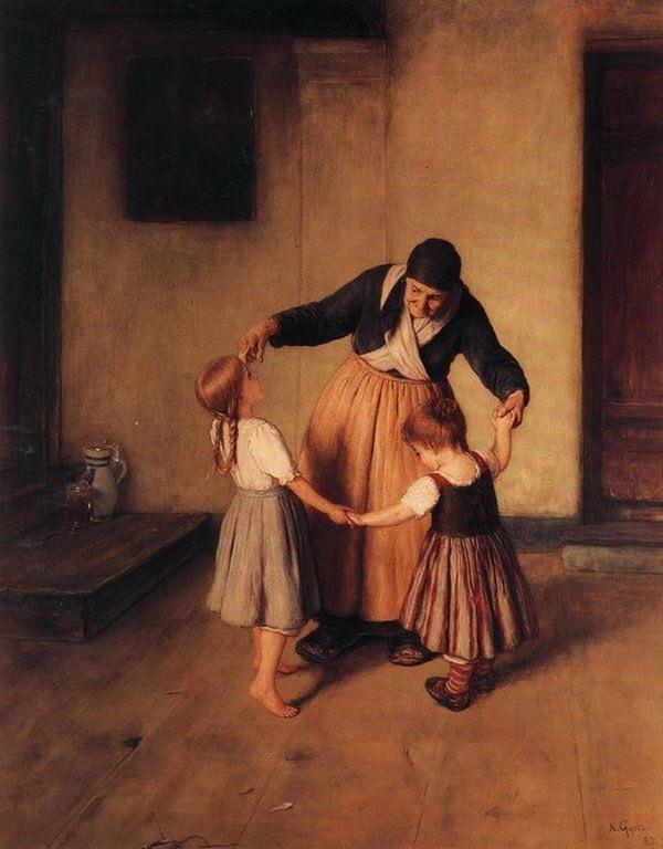 Grandma and Children  - Nikolaos Gyzis
