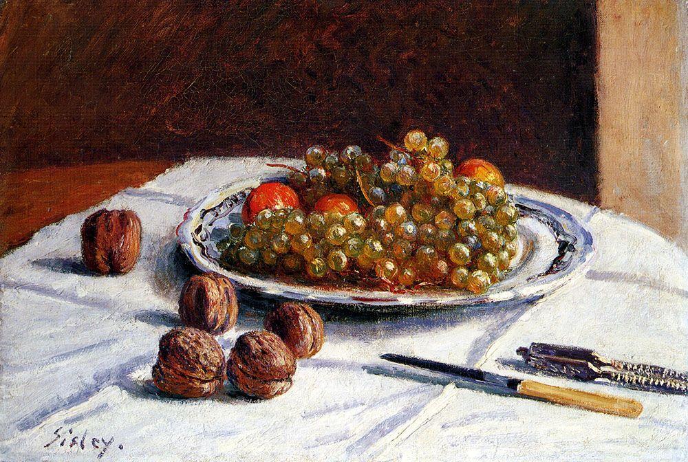 Grapes And Walnuts - Alfred Sisley