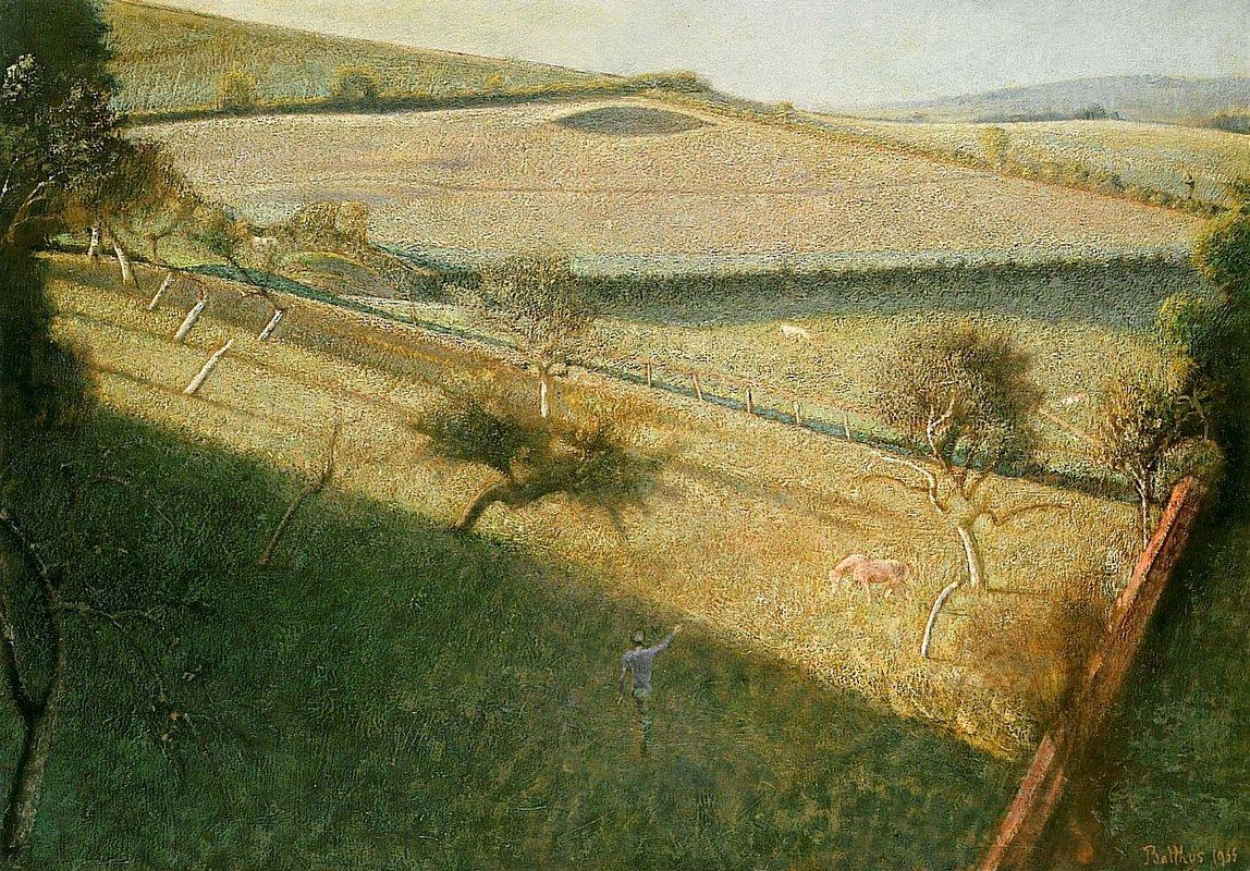 Great landscape with trees (The triangular field) - Balthus