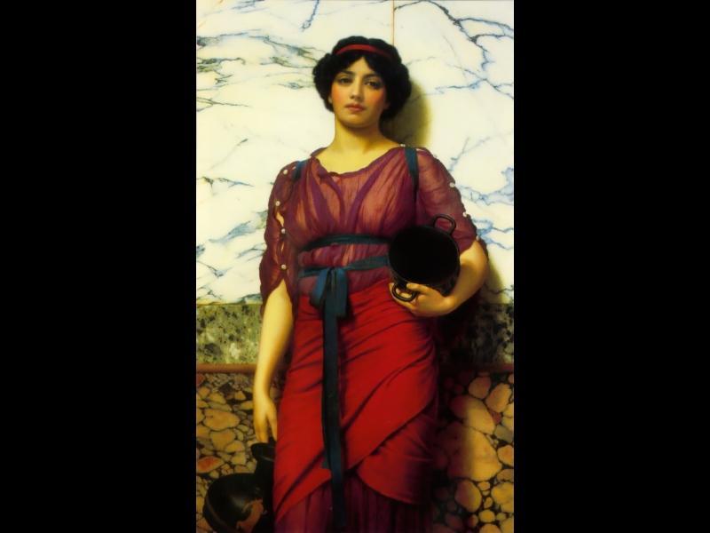 Grecian Idyll - John William Godward