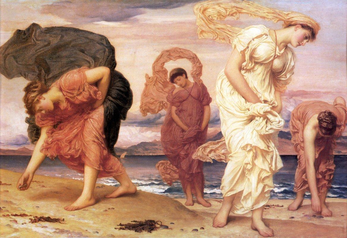 Greek Girls Picking up Pebbles - Frederic Leighton