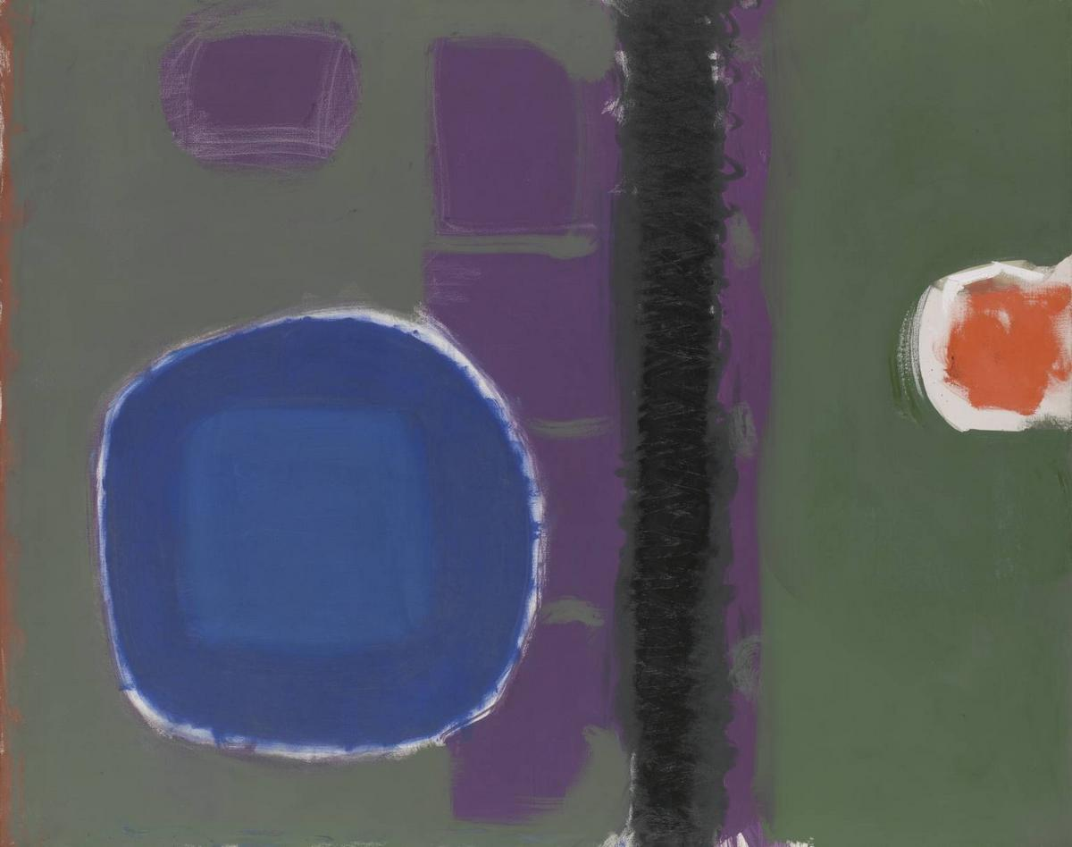 Green and Purple Painting with Blue Disc: May 1960 - Patrick Heron