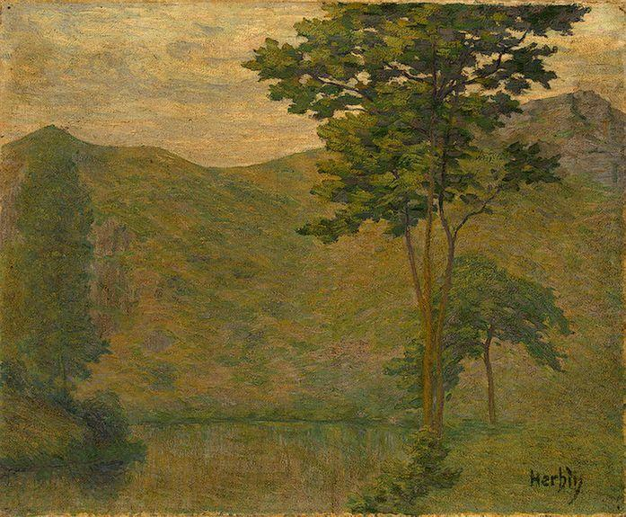 Green Landscape - Auguste Herbin