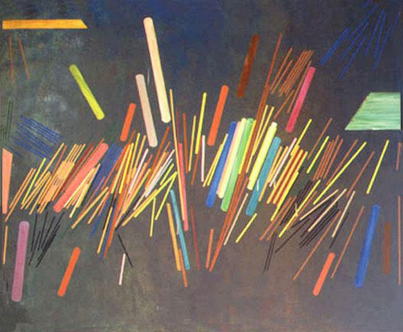 Green Line Painting - Ronnie Landfield