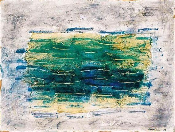 Green Seas - Jean Fautrier