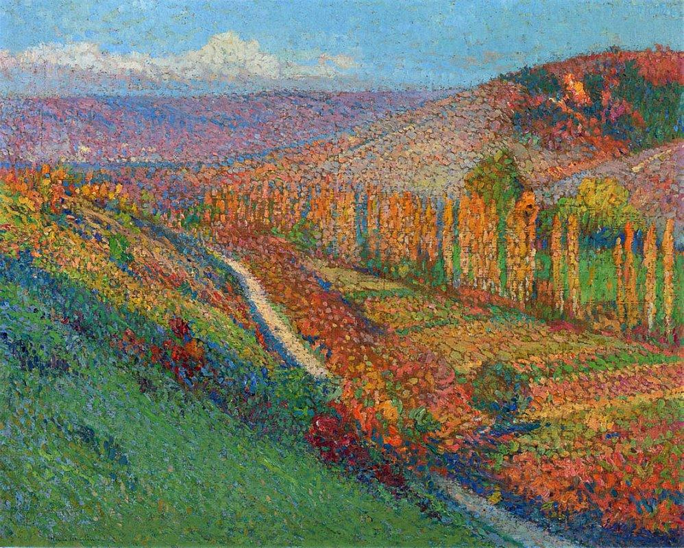 Green Valley with Stream - Henri Martin