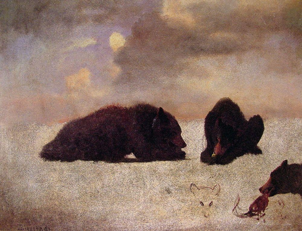 Grizzly Bears - Albert Bierstadt