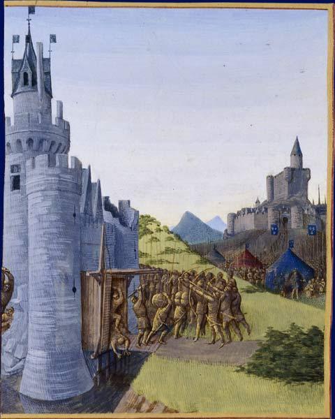Guerre entre Girard de Cazaubon et le comte de Foix. Reddition de Roger Bernard III - Jean Fouquet